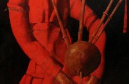 """Bagpiper"". 2008, Oil on Canvas, 120×93 cm"