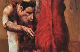 """Butcher"", 2004, Oil on canvas, 120×98 cm"