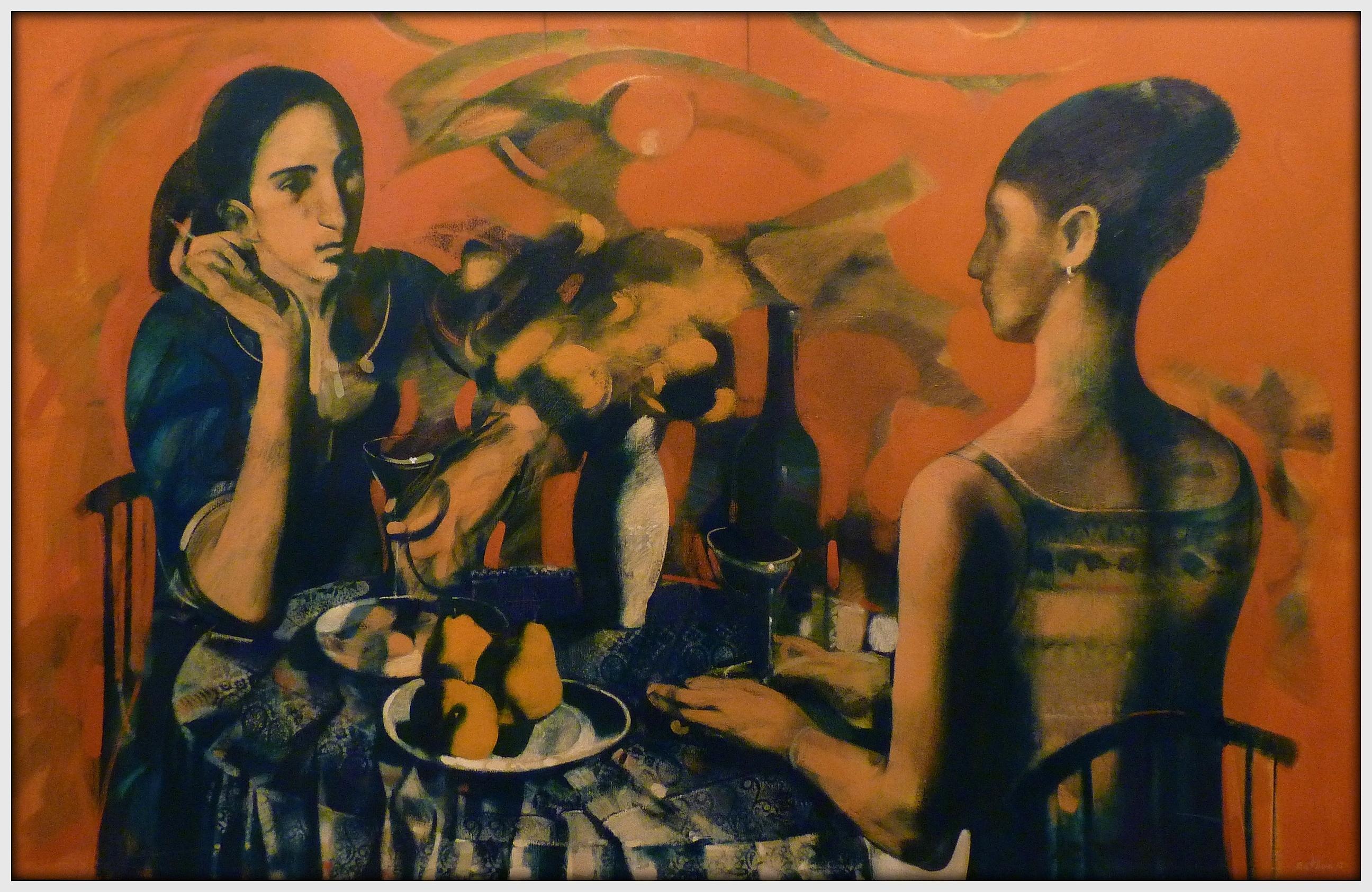 ''Cafe'', 2012, Oil on Canvas, 90x140 cm