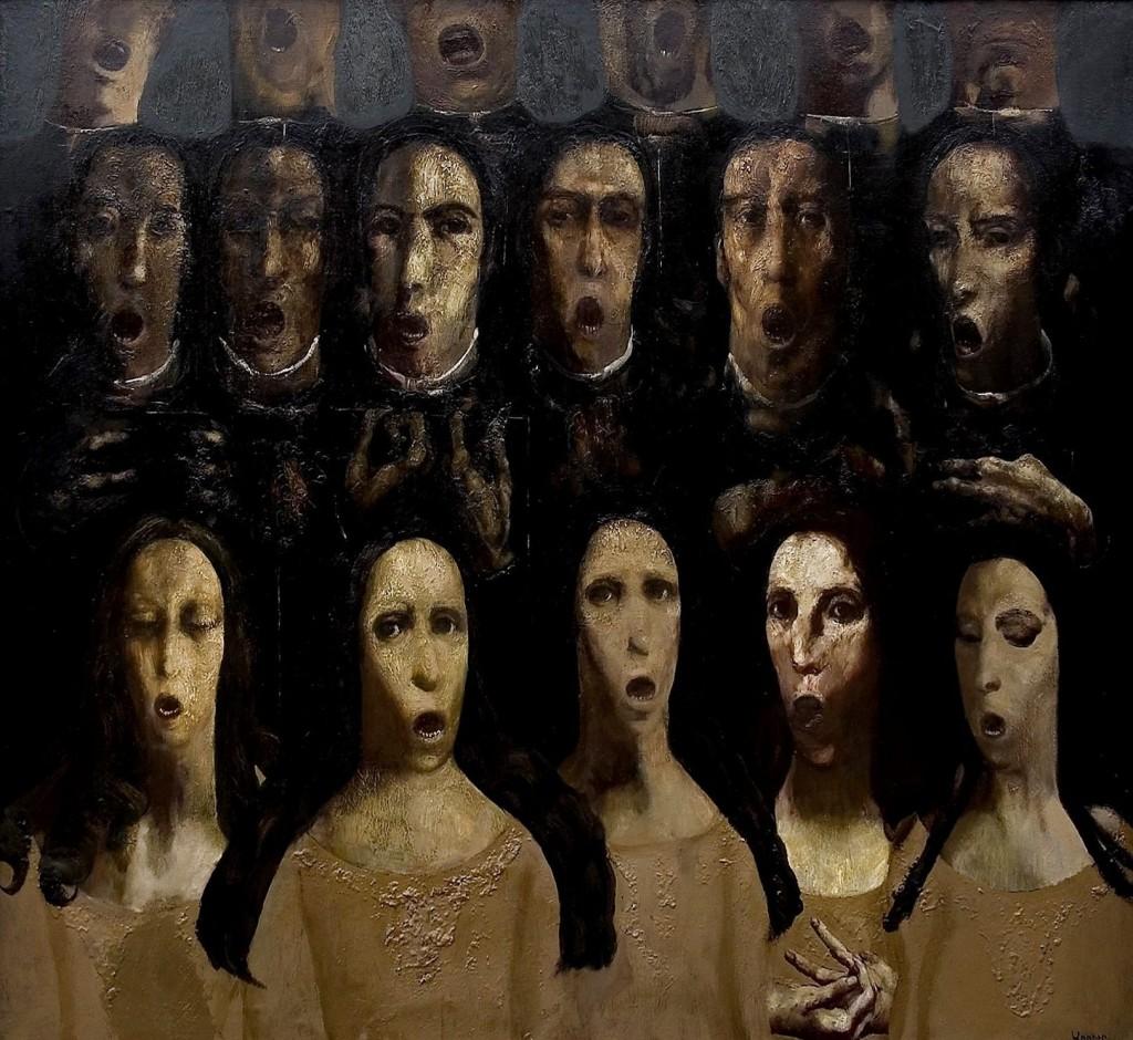''Chorus'', 2004, Oil on Canvas, 125x137 cm