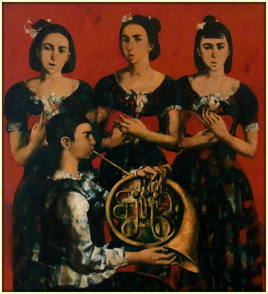 "''Concert"", 2012, Oil on Canvas, 137x125 cm"