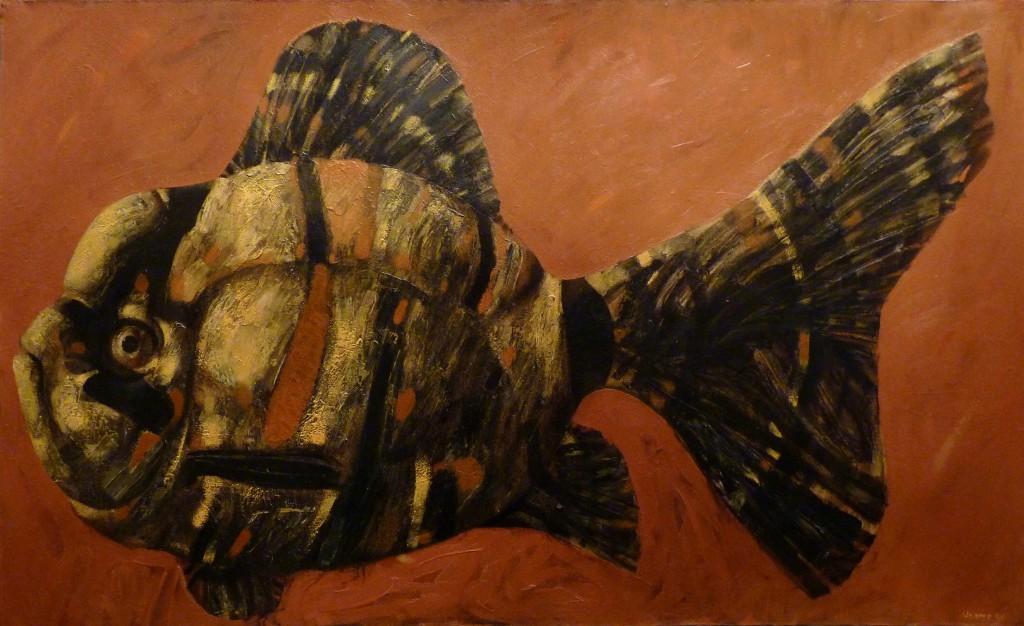 "''Fish"", 2007, Oiil on Canvas, 80x130 cm"