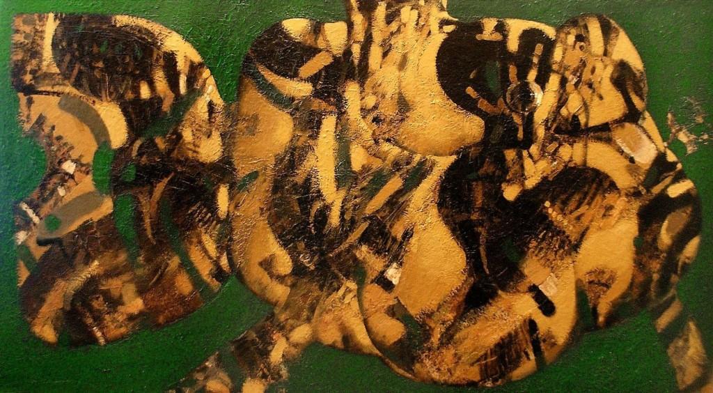 "''Fish"", 2010, Oil on Canvas, 72x133 cm"