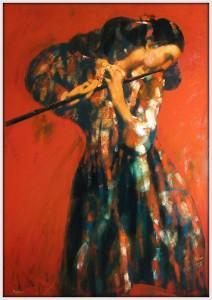 """''Fluitist"""", 2011, Oil on Canvas, 130x93 cm"""