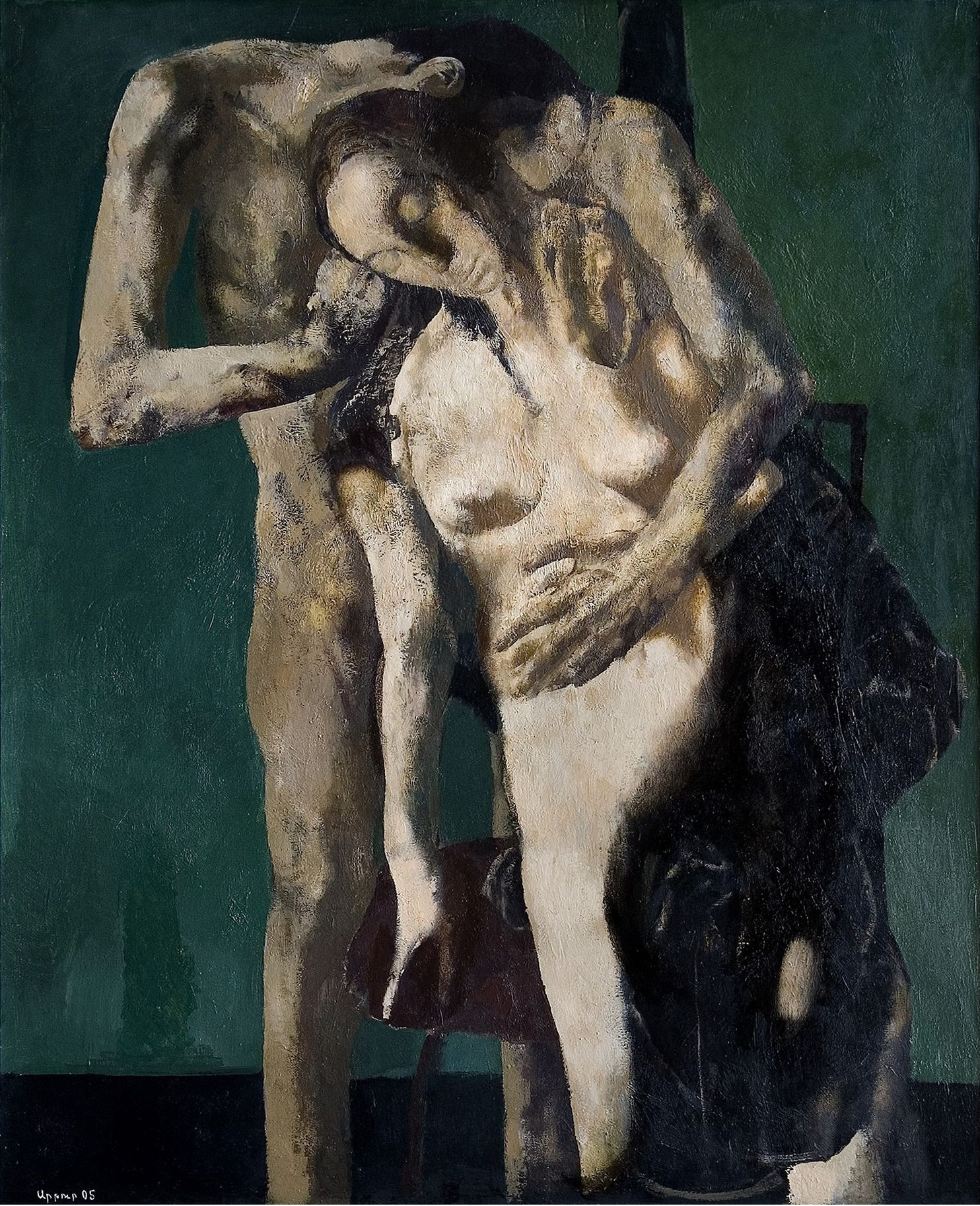 """''Lovers"""", 2005, Oil on Canvas, 115x93 cm"""