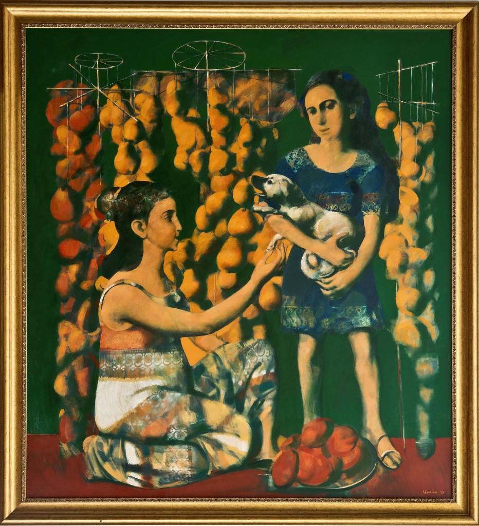 """Market. Everyday life"", 2012, Oil on Canvas, 137x125 cm"