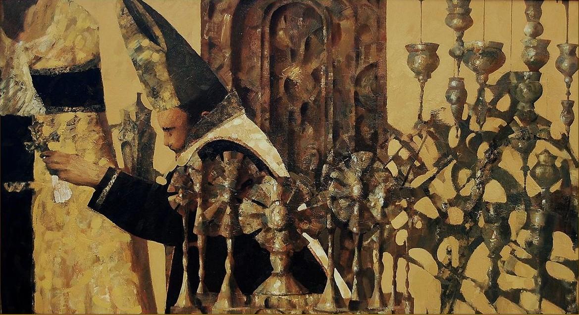 "''Messa"", 2008, Oil on Canvas, 93x150 cm"