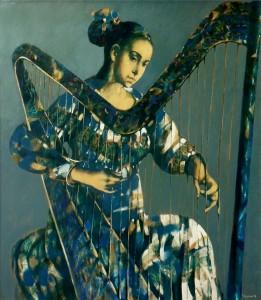''Music'' 2012, Oil on canvas,120x104 cm