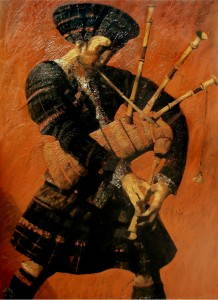 """''Musician"""", 2009, Oil on Canvas, 130x93 cm"""