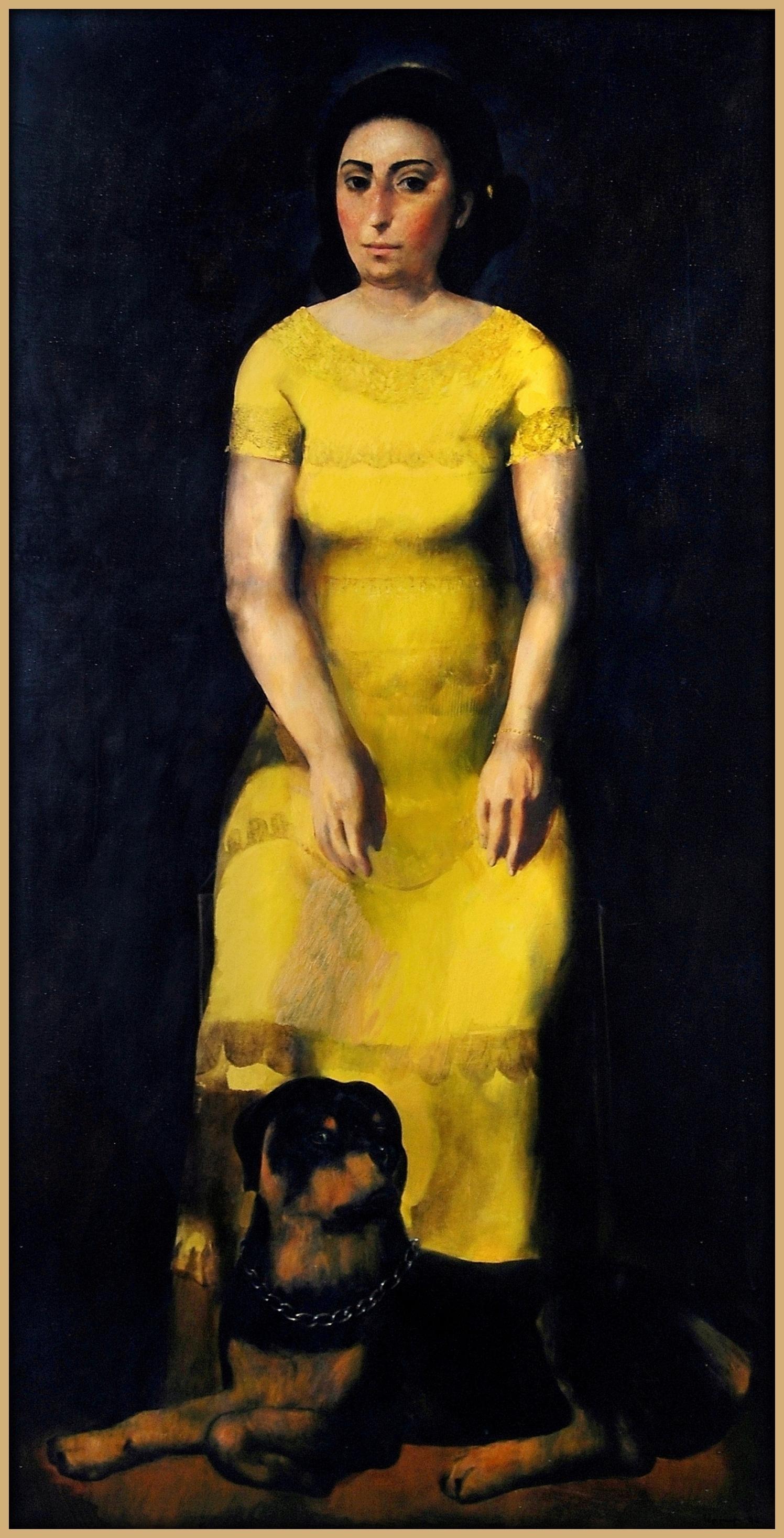 """Mother's Portrait"""", 2006, Oil on Canvas, 190x97 cm"""