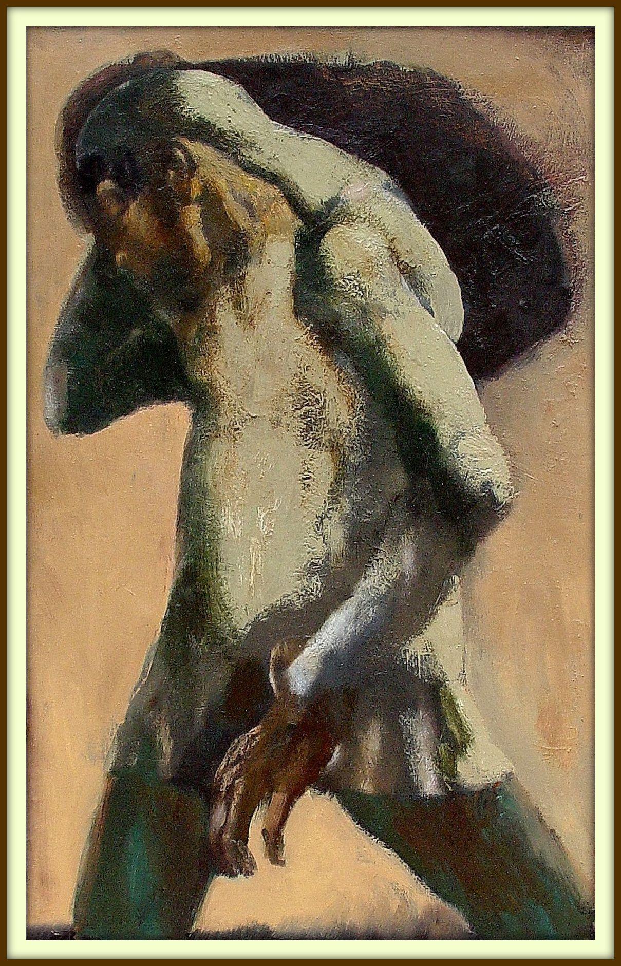 "''Porter"", 2003, Oil on Canvas, 80x50 cm"