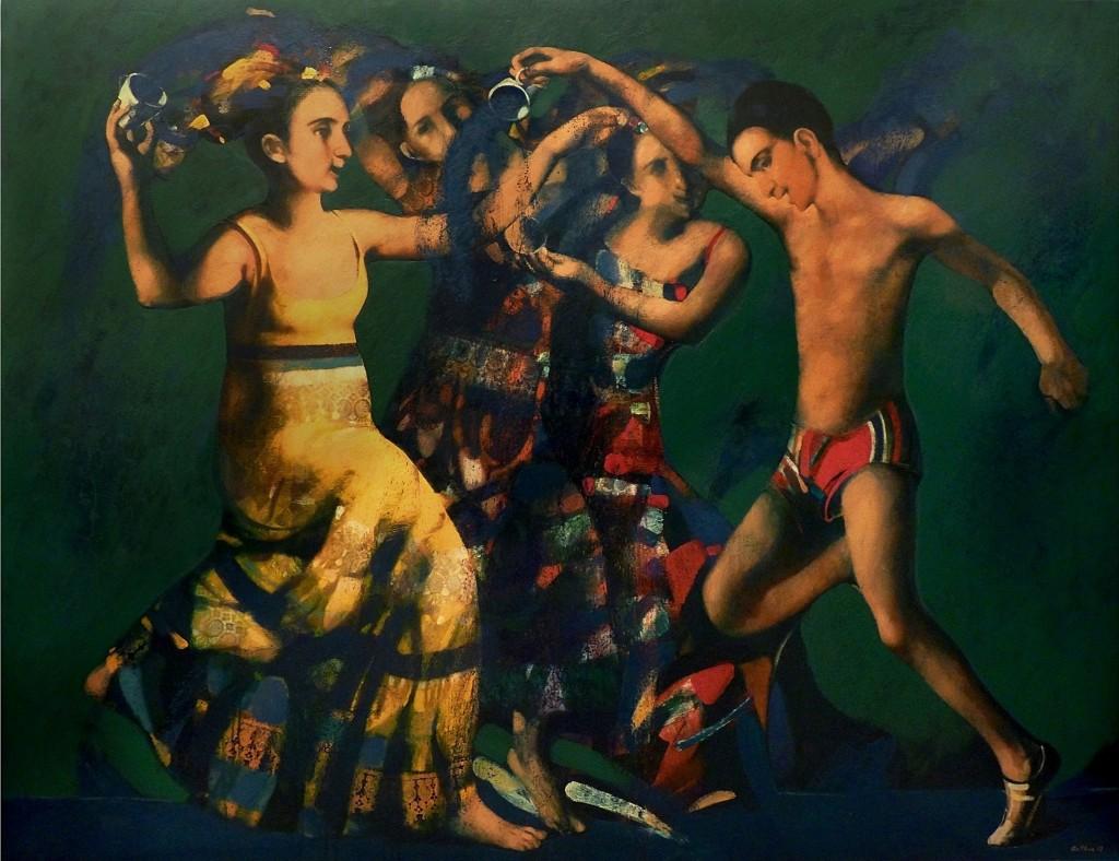"''Water Game"" (Vardavar), 2012, Oil on Canvas, 140x181 cm"