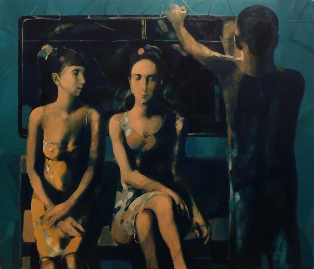 ''Whisper'' (In Metro), 2013, Oil on Canvas, 103x120 cm