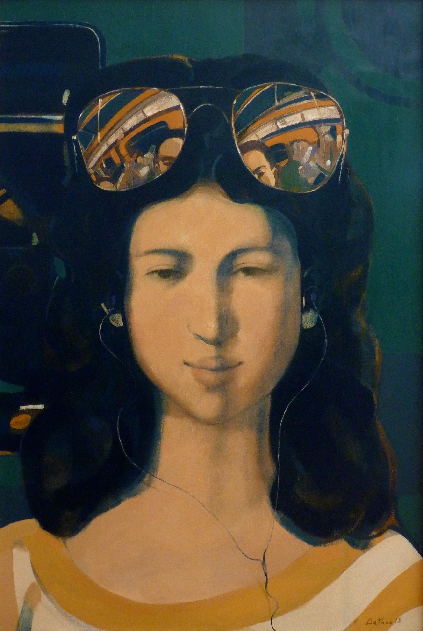 ''Passenger'' 2013, Oil on Canvas, 105X71 cm