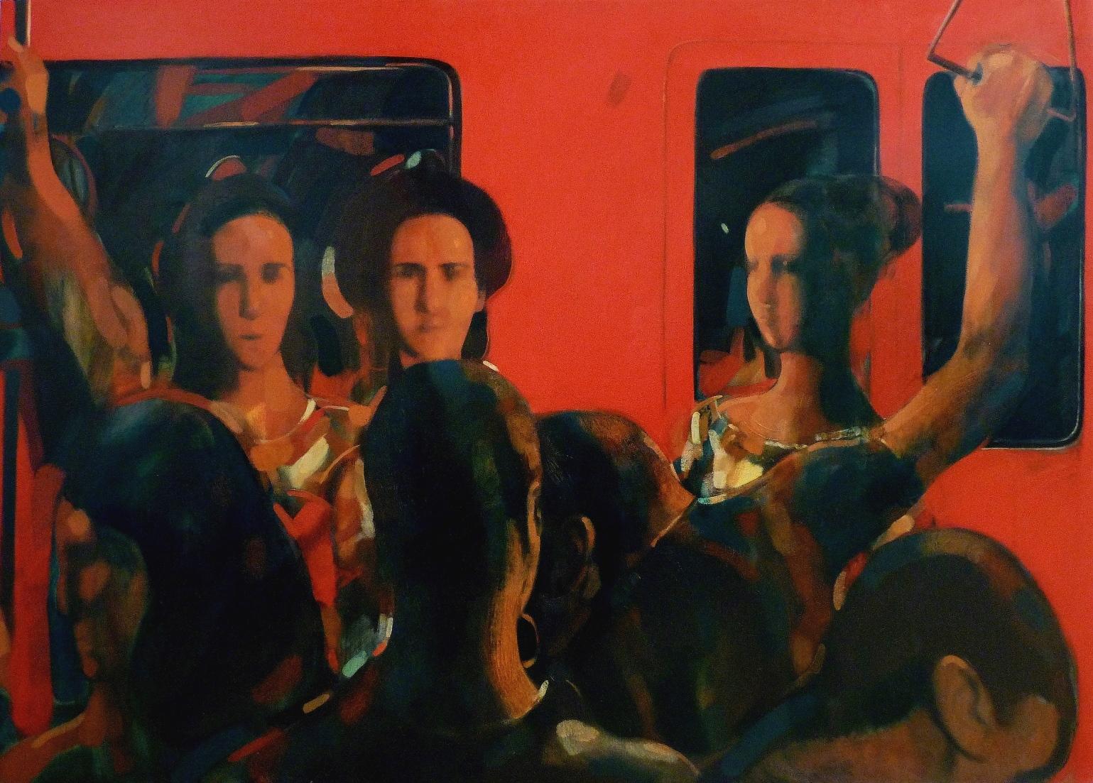 """Rush hour. Metro"", 2013, Oil on Canvas, 93x130 cm"