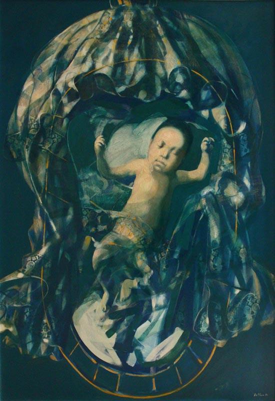 """Birth"". 2014, Oil on Canvas, 130x90 cm"