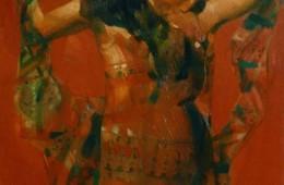"""Solo Dance"". 2014, Oil on Canvas, 90×65 cm"