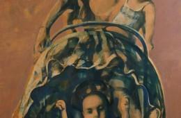 """Walk"". 2014, Oil on Canvas, 130×90 cm"