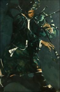 ''Musician''. 2015. Oil on Canvas. 140x90cm
