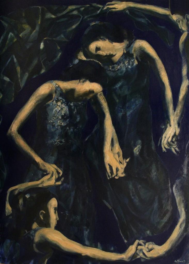''Heavenly dance''. 2015. Oil on Canvas. 130X93 cm