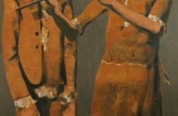 """Duet"". 2016, Oil on Canvas, 130x80cm"