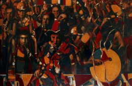 """Fans"". 2016, Oil on Canvas, 120×170 cm"