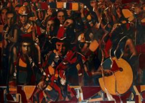 Fans. 2016, Oil on Canvas, 120x170 cm