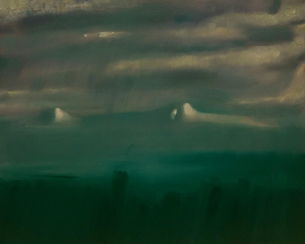 ''Ararat. Rainy day'' 2016, Oil on canvas, 40x55 cm