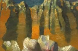 """Geghard mountains"", 2016, Oil on Canvas, 45×50 cm"