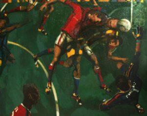"""Hit"". 2017, Oil on Canvas, 135x160 cm"