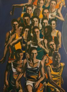 ''Struggle'' 2017. Oil on Canvas, 127x93 cm