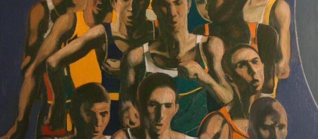 """""""Struggle"""" 2017. Oil on Canvas, 127×93 cm"""