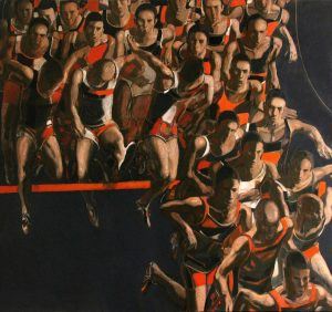 """Barrier"" 2018. Oil on Canvas, 150x160 cm"