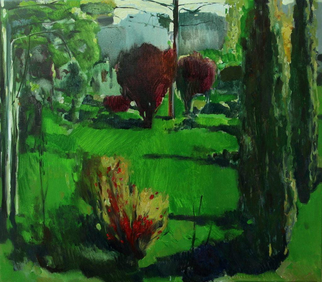 ''Blossom garden. Ashtarak'' 2018, Oil on Canvas, 70X80 cm
