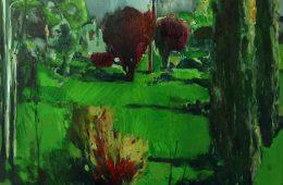 """Blossom garden. Ashtarak"" 2018, Oil on Canvas, 70X80 cm"