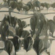 """Winter trees"", 2017, Oil on Canvas, 92×73 cm"