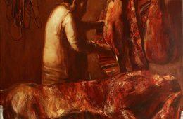 """Butcher"" 2019, Oil on canvas, 120×120 cm"