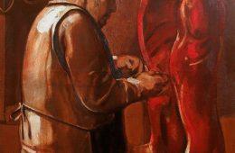 """Butcher"" 2019, Oil on canvas, 90×70 cm"