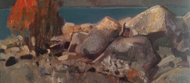 """The stones"" 2019, Օil on Canvas, 50×60 cm"