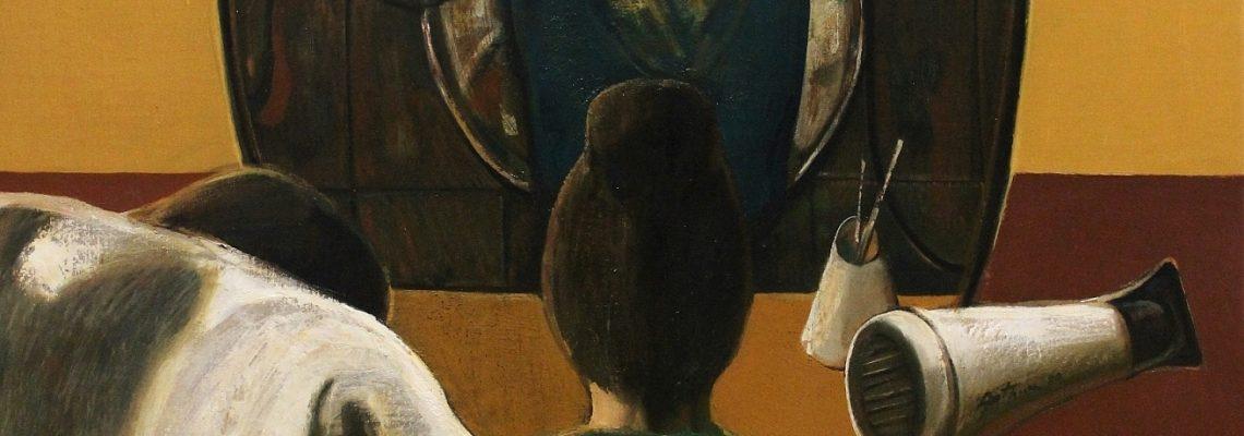 """""""Beauty salon"""" 2020, Oil on Canvas, 140x90 cm"""