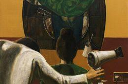 """""""Beauty salon"""" 2020, Oil on Canvas, 140×90 cm"""