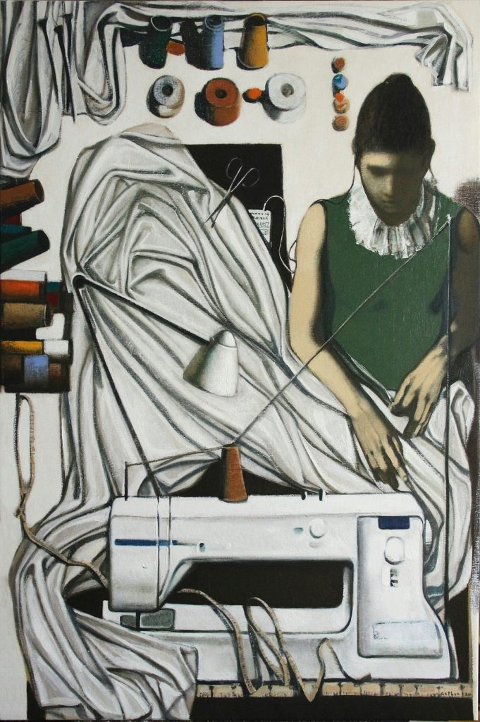 ''Atelier'' 2020, Oil on Canvas, 120x80 cm