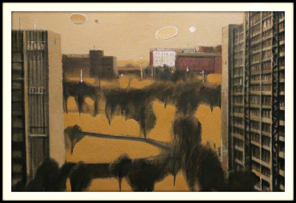 ''The city'' 2020, Oil on canvas 40x60 cm