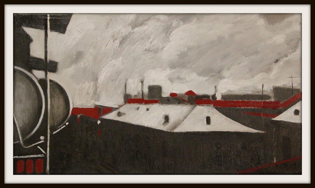 ''The city'' N1 2020, Oil on canvas, 25x45 cm
