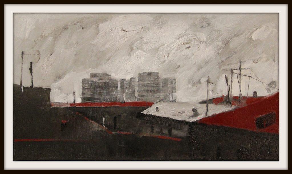 ''The city'' N2 2020, Oil on canvas, 25x45 cm
