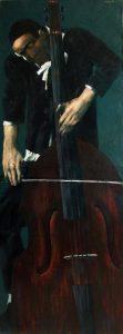 ''Cellist'' 2007, Oil on canvas, 160x60 cm
