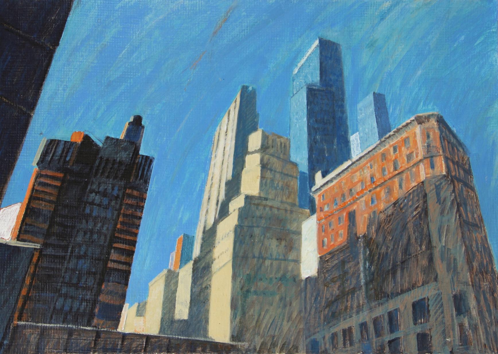 ''New York impressions'' 2020, Acrylic on gardboard, 31x43 cm