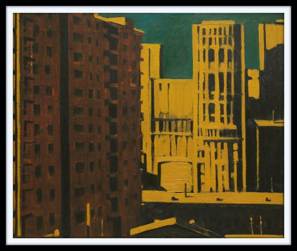 ''Shinig City'' 2021, Oil on canvas, 50x60 cm