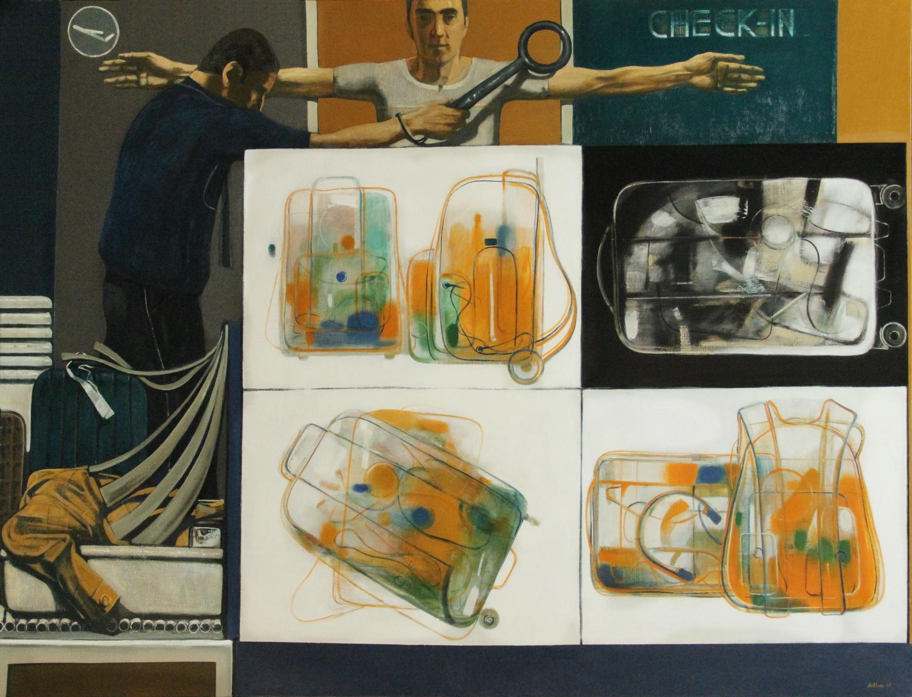 ''TERMINAL A, GATE 5'' 2021, Oil on canvas, 130x170 cm
